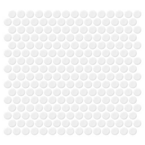 Retro Rounds Bold White Gloss 075X075 RR01