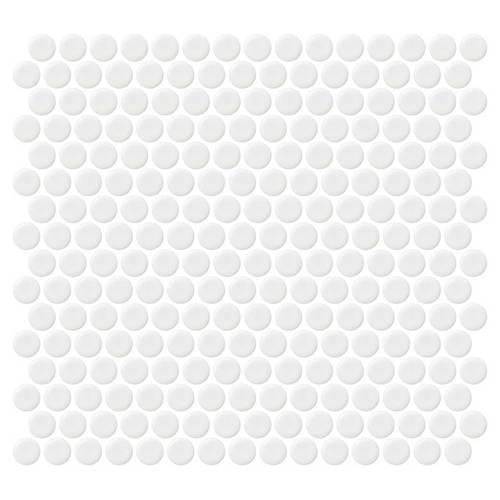 Retro Rounds Bold White Matte 075X075 RR02