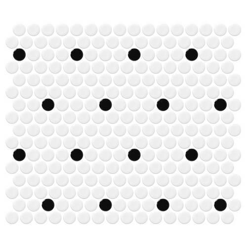 Retro Rounds Polka Dot Gloss 075X075 RR03