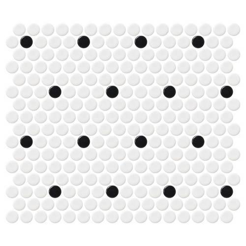 Retro Rounds Polka Dot Matte 075X075 RR04