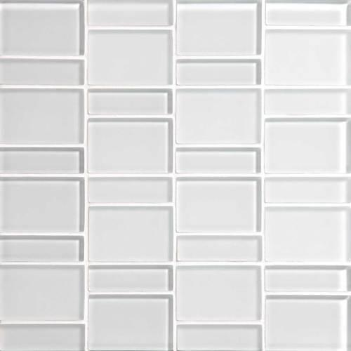 Color Wave Ice White Block Random Mosaic CW01