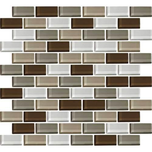 Color Wave Downtown Oasis Brick-Joint Mosaic CW23