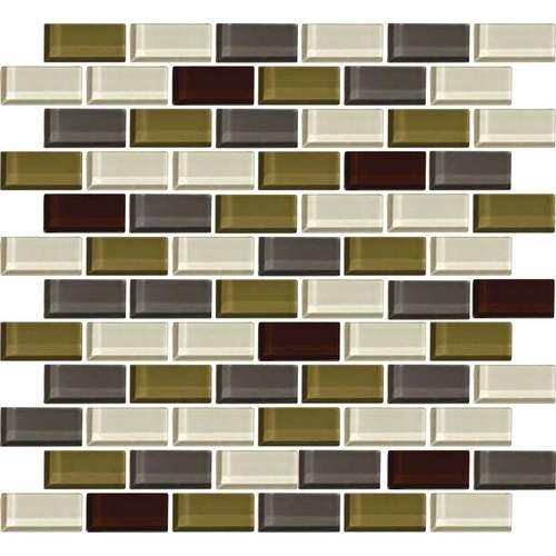Color Wave Autumn Trail Brick-Joint Mosaic CW26