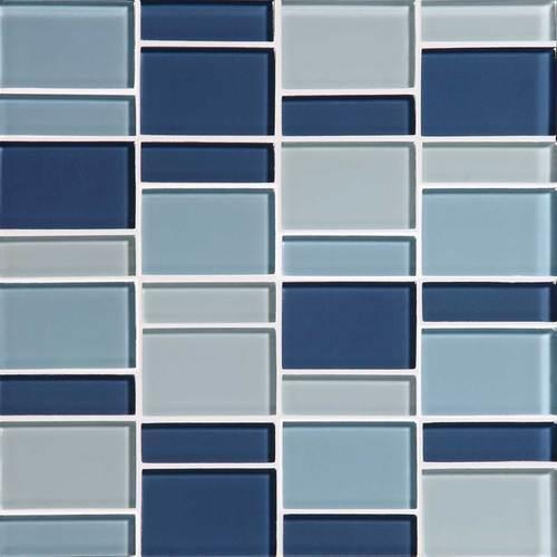 Color Wave Winter Blues Block Random Mosaic CW27