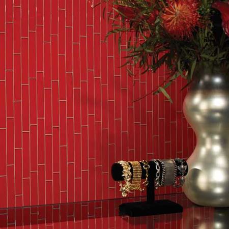 Color Wave Rain Forest Brick-Joint Mosaic CW25