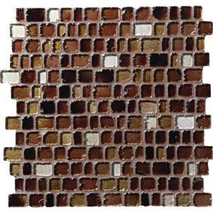 GlassTile JewelTide JT061RANDMS1P Cobblestone