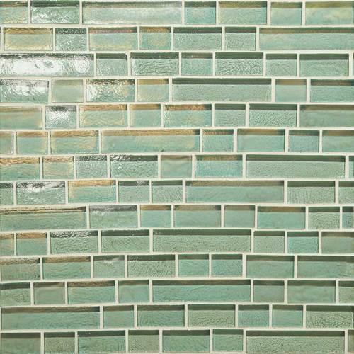 Glass Horizons Sea Glass Random Linear Mosaic GH02
