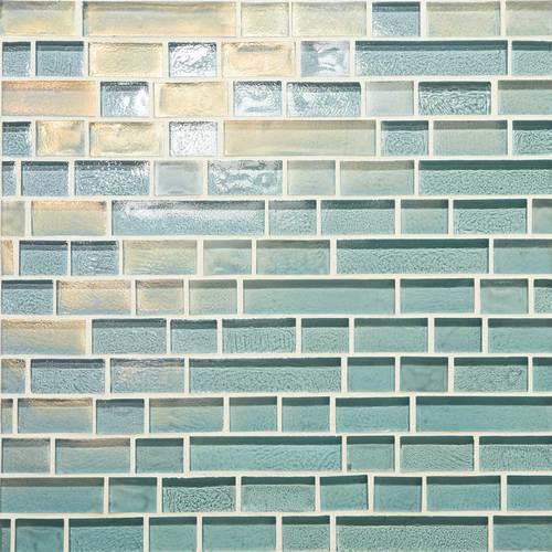 Glass Horizons Sky Blue Random Linear Mosaic GH03