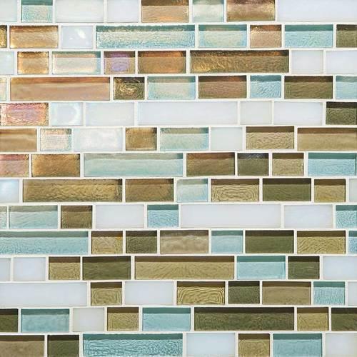 Glass Horizons Caribbean Blend Random Linear Mosaic GH10