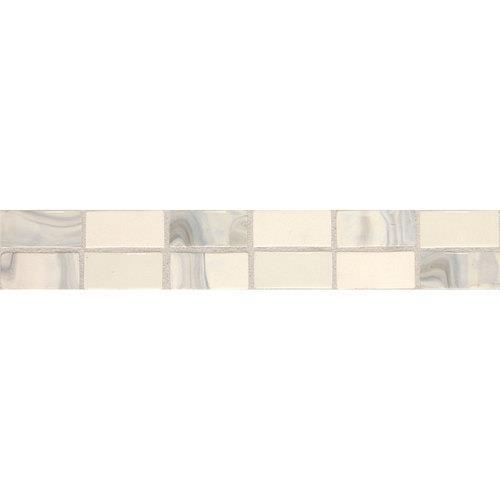 Fashion Accents White Swirl 2 X 12 Convex Accent F001