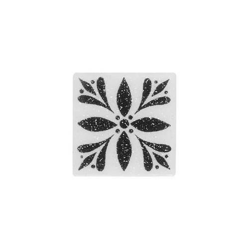 Fashion Accents White 2 X 2 Glimmer InsertLtBrGtSet Of 4 FA06