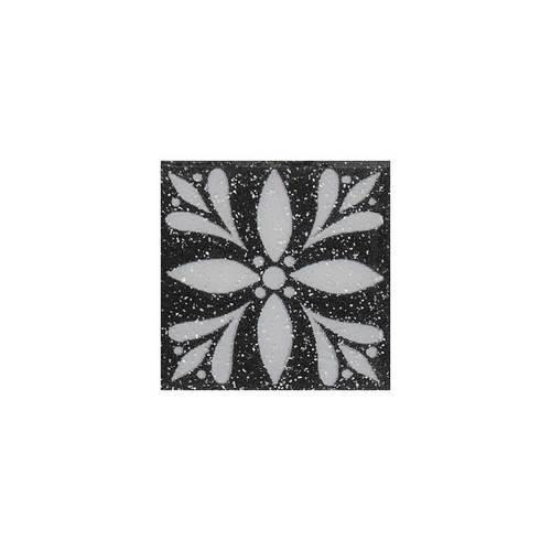 Fashion Accents Black 2 X 2 Glimmer InsertLtBrGtSet Of 4 FA06