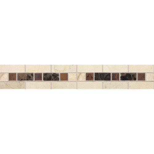 Fashion Accents Burnished Honed Dark LtBrGt2 X 12 Decorative Accent FA09