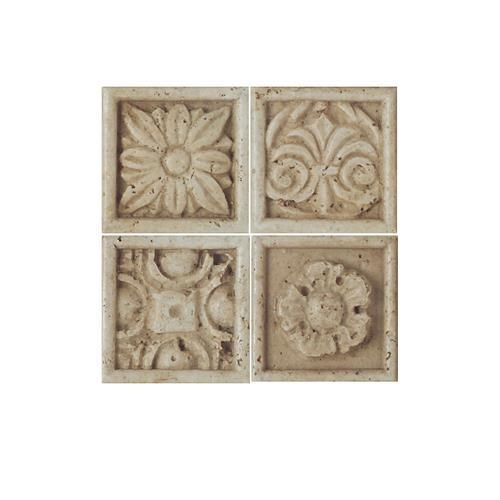 Fashion Accents Positano InsertLtBr /Gt 2 X 2LtBr /Gt Set Of 4 FA22