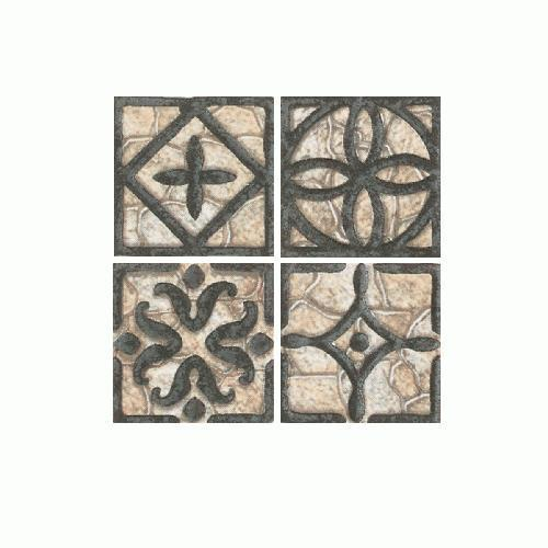 Fashion Accents Wrought Iron Beige Inserts 2 X 2 FA31