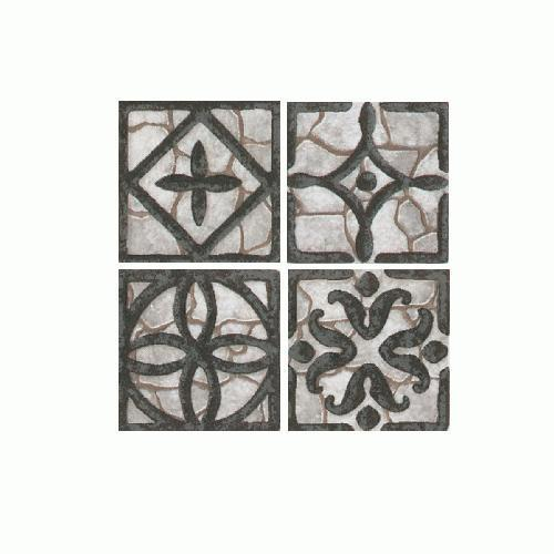 Fashion Accents Wrought Iron Grey Inserts 2 X 2 FA33
