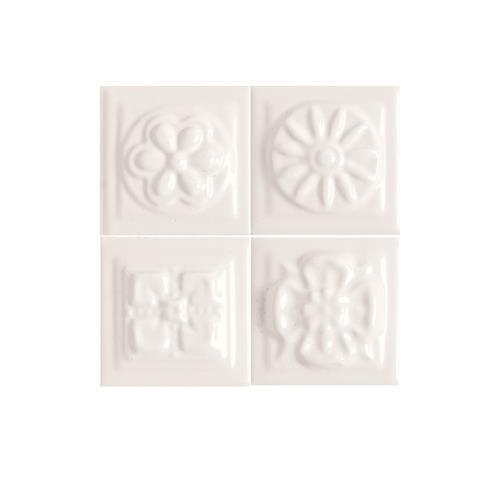 Fashion Accents 100 White Bouquet Insert 2 X 2LtBr /Gt Set Of 4 FA50