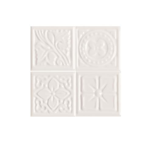 Fashion Accents 100 White Floret Insert 2 X 2LtBr /Gt Set Of 4 FA50
