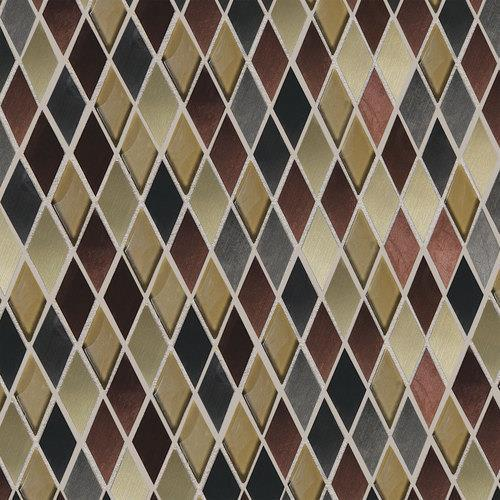 Fashion Accents Copper Blend 12 X 12 Sheet Harlequin Mosaic FA63