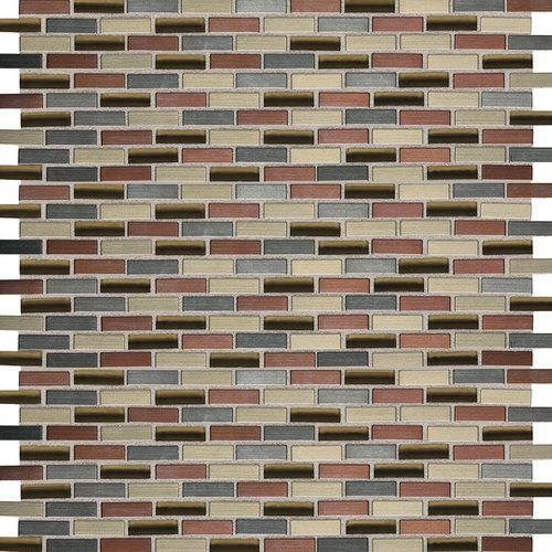 Fashion Accents Copper Blend 12 X 12 Sheet Brix Mosaic FA63