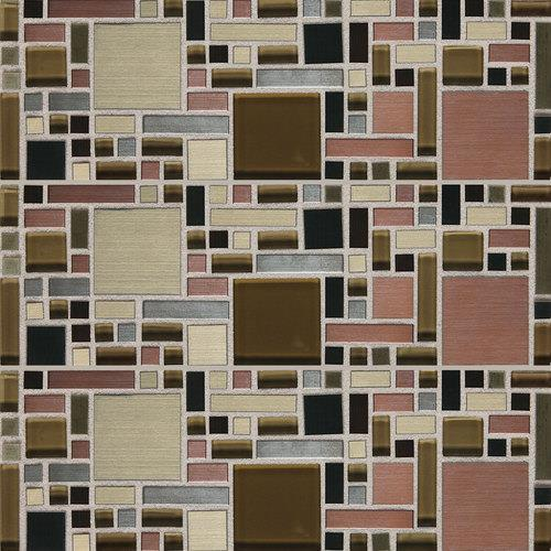 Fashion Accents Copper Blend 12 X 12 Sheet Fortress Mosaic FA63