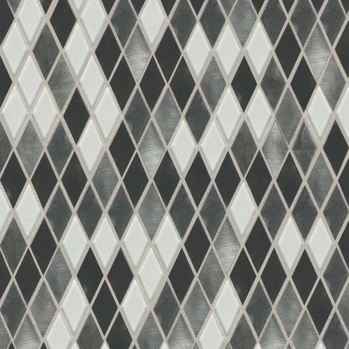 Fashion Accents Nickel Blend 12 X 12 Sheet Harlequin Mosaic FA64