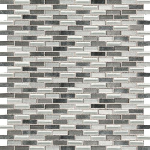 Fashion Accents Nickel Blend 12 X 12 Sheet Brix Mosaic FA64