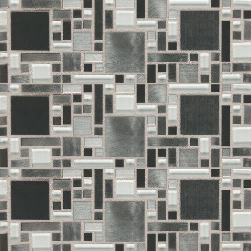 Fashion Accents Nickel Blend 12 X 12 Sheet Fortress Mosaic FA64