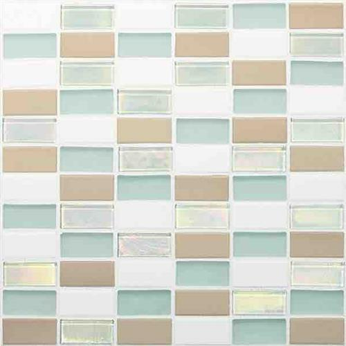 Coastal Keystones Trade Wind 2 X 1 Straight-Joint Mosaic CK86