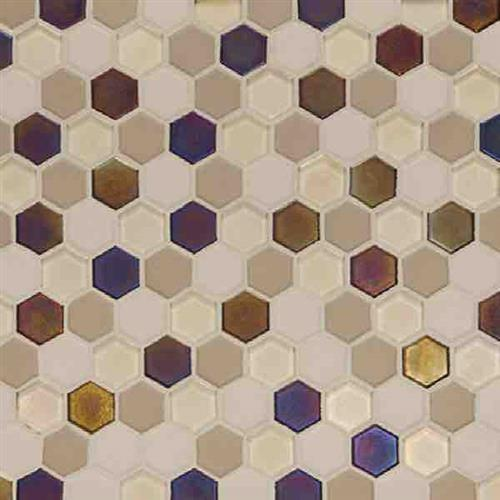 Coastal Keystones Sunset Cove Hexagon Mosaic CK89