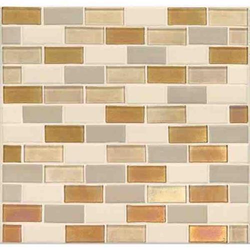 Coastal Keystones Island Harvest 2 X 1 Brick-Joint Mosaic CK91