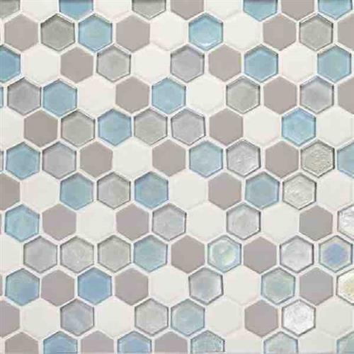 Coastal Keystones Mediterranean Mist Hexagon Mosaic CK92