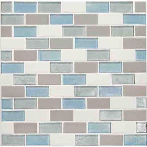 Coastal Keystones Mediterranean Mist 2 X 1 Brick-Joint Mosaic CK92