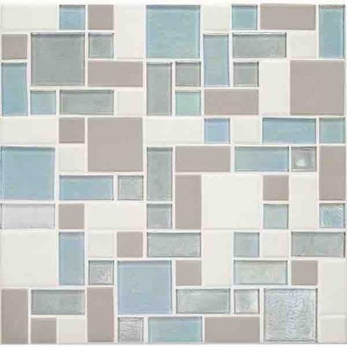 Coastal Keystones Mediterranean Mist Block Random Mosaic CK92