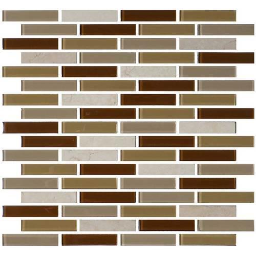 Mosaic Traditions Caramelo LtBrGt5/8 X 3 Brick-Joint Mosaic BP95