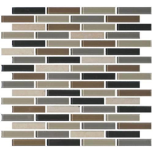 Mosaic Traditions Skyline LtBrGt5/8 X 3 Brick-Joint Mosaic BP99