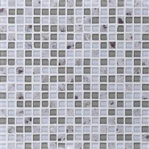 GlassTile GraniteRadiance GR605858MS1P KashmirWhiteBlend