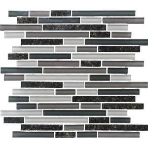 GlassTile GraniteRadiance GR6258RANDMS1P UbatubaBlend