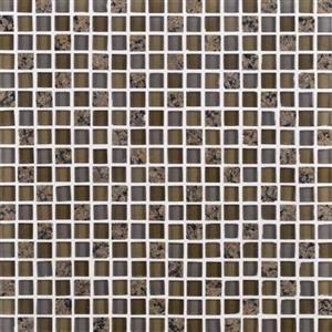 GlassTile GraniteRadiance GR635858MS1P TropicalBrownBlend