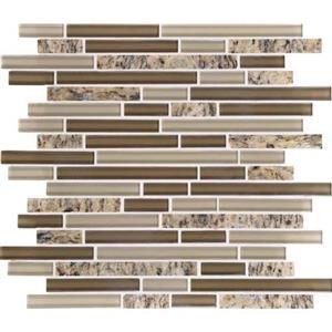 GlassTile GraniteRadiance GR6558RANDMS1P SantaCeciliaBlend