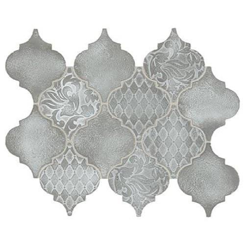 Vintage Metals Whitewash Titanium - Arabesque Mosaic