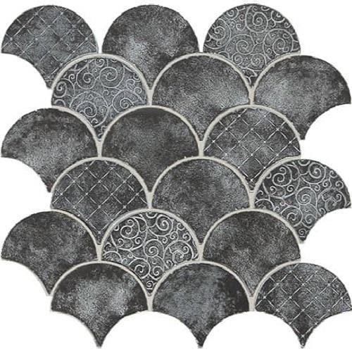 Vintage Metals Whitewash Iron - Fan Mosaic