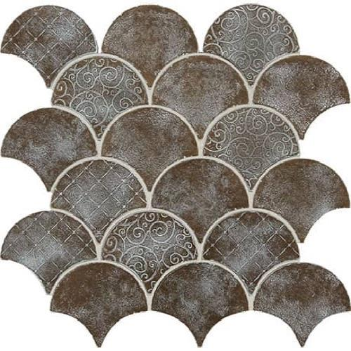 Vintage Metals Whitewash Classic Bronze - Fan Mosaic