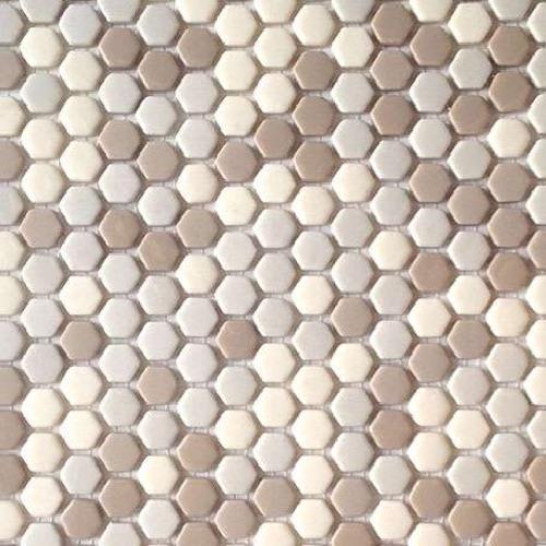 Ceragres Link Hexagone Mix Linen Hex Mix Ceramic & Porcelain Tile ...