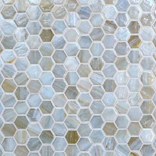 Ceragres Spa Agate Hexagon Abruzzo Hex Pearl Ceramic