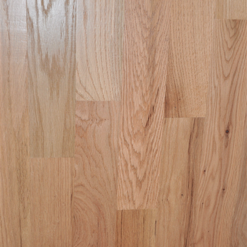 Unfinished Solid Red Oak Natural Common