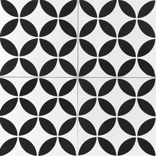 Encaustic Tiles Circulos Black
