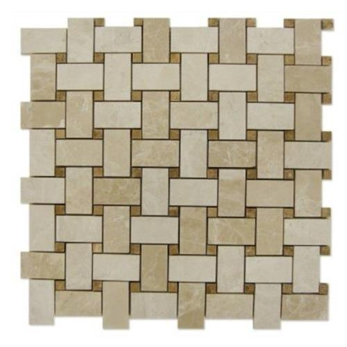 Natural Stone Mosaics Bottocino - Light Emperador Dots