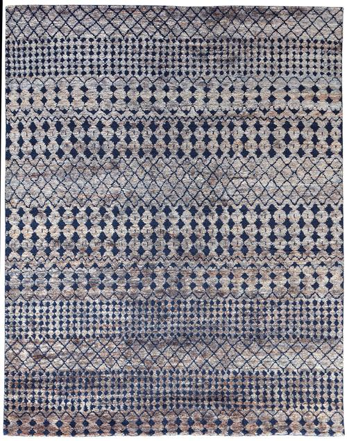 Stark Studio Rugs Dunes Kiri Grey Navy Area Rugs White