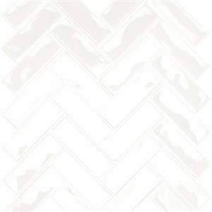 CeramicPorcelainTile Allure CAAGLWHALLURMOHB GlossyWhite-Herringbone